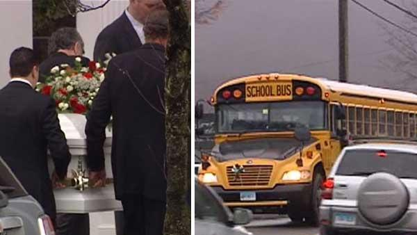 Farewells, school bells fill tragedy-stricken Newtown