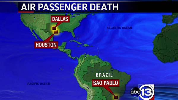 Woman dies on board flight from Brazil
