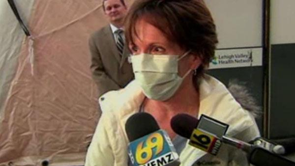 Flu patients treated at outside tent in PA