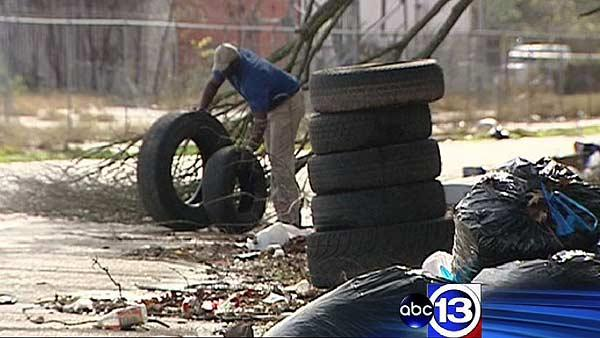 Cleaning up illegal dumping ground