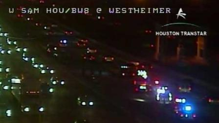 Three main lanes on the West Beltway at Eldridge were shut down for four hours Friday because of a four-vehicle accident that killed a motorcyclist.