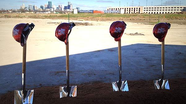 UH breaks ground on new football stadium