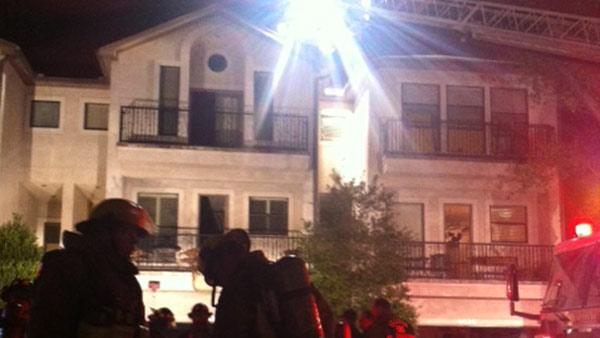 Firefighters battling apartment fire