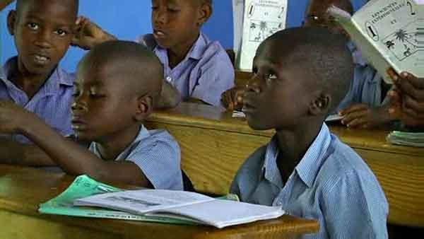 Haitian kids at school thanks to help from Houston