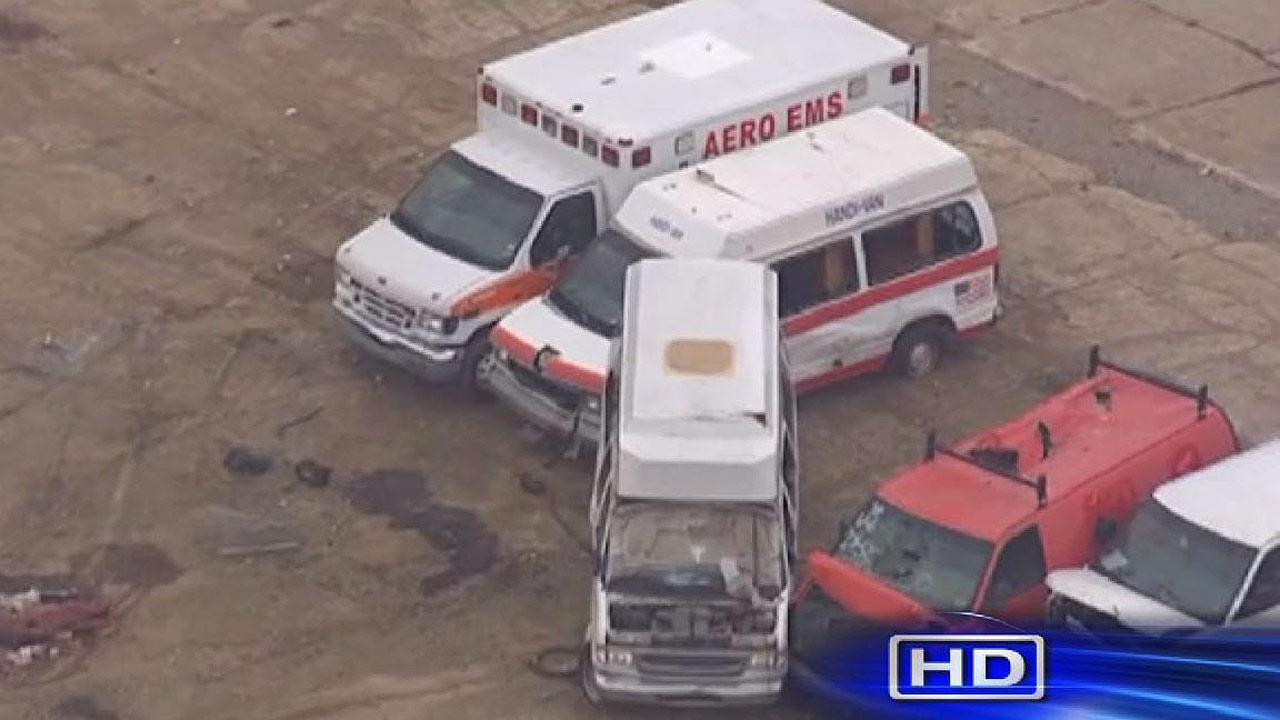 Men arrested for trying to sell stolen ambulance