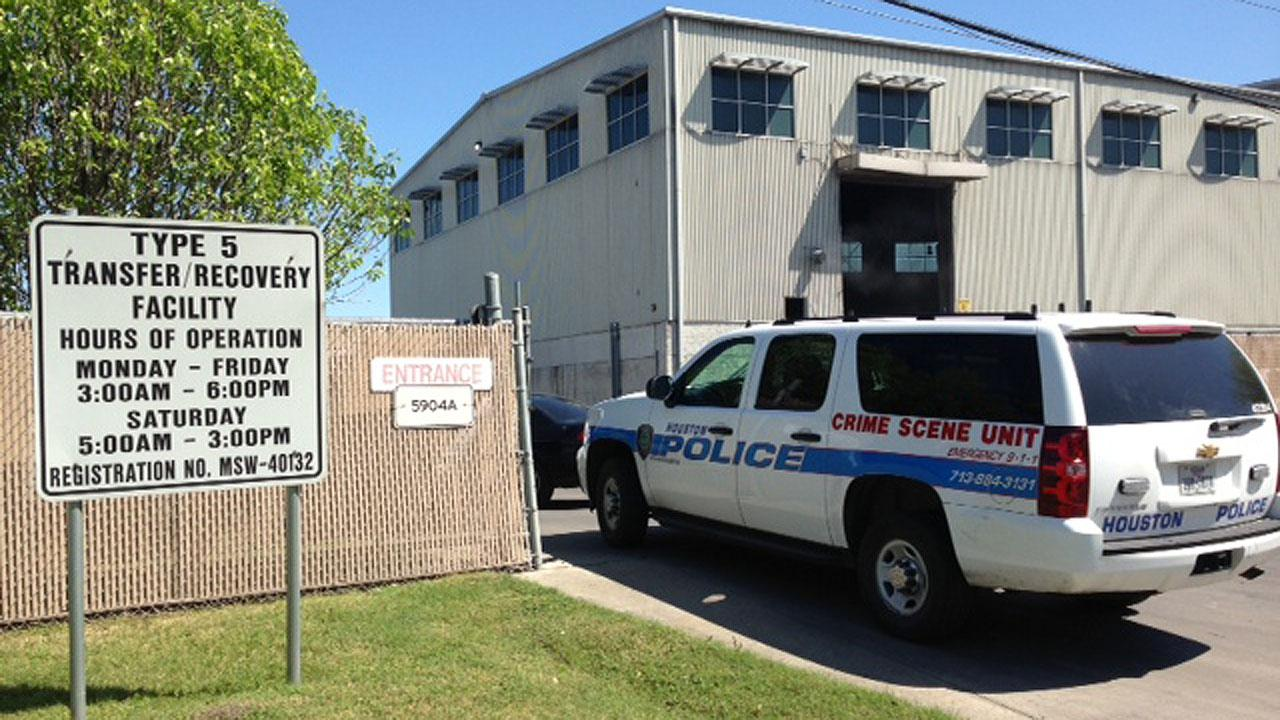 Police are on the scene of a recycling center where a body was reportedly found