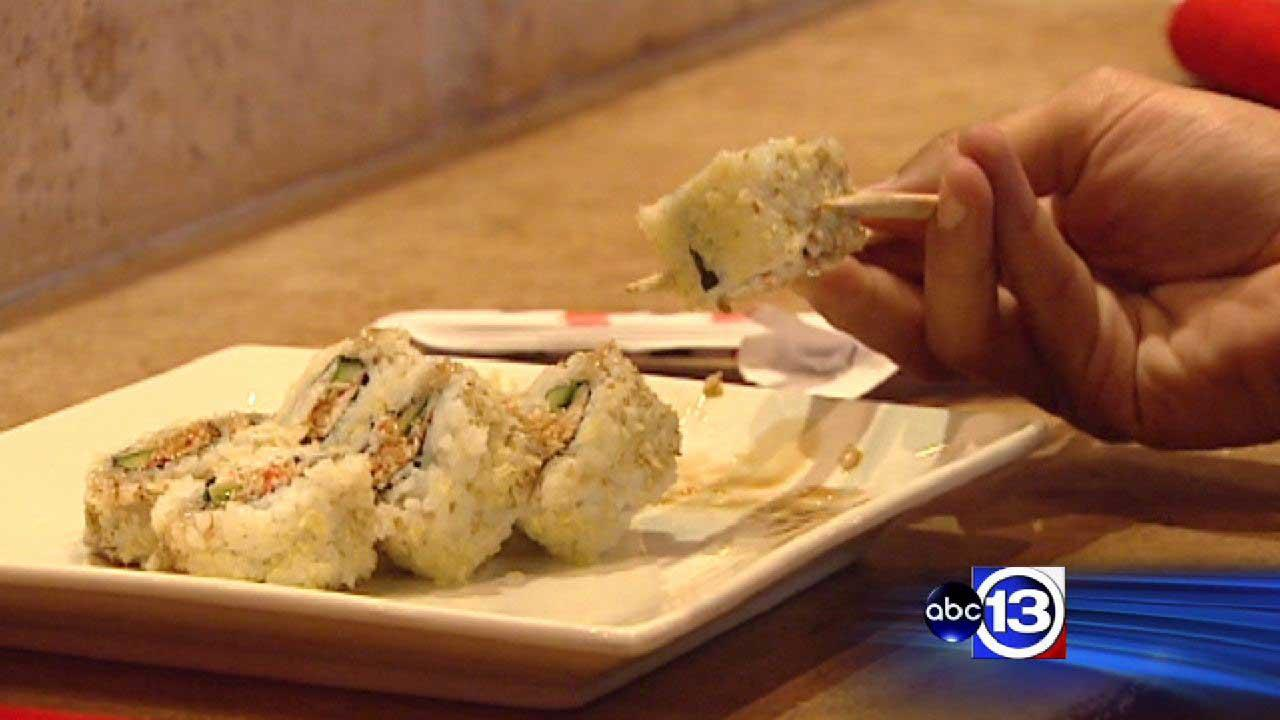 Ra Rushi hosting competitive eating contest with sushi rolls
