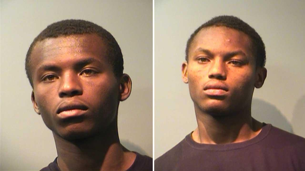 Seventeen-year-old Ron Edward Thomas, left, and Roneil Edward Thomas have been arrested in connection to as many as seven convenience store robberies that have been reported in Pasadena since the start of March. A third suspect has not yet been charged.