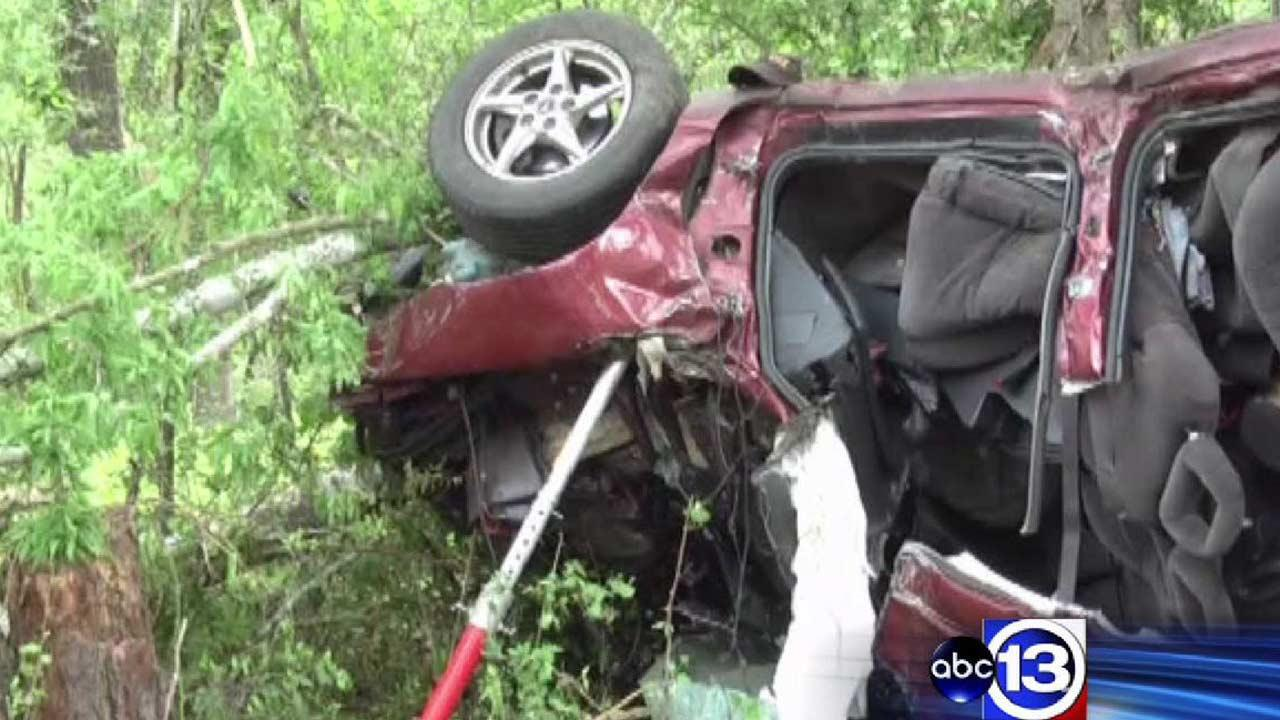 Two men from New Waverly died when their vehicle crashed into trees off Mt. Zion Road