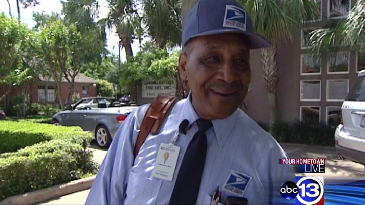 Houston mail carrier retiring after 55 years delivering mail out of Sage Post Office