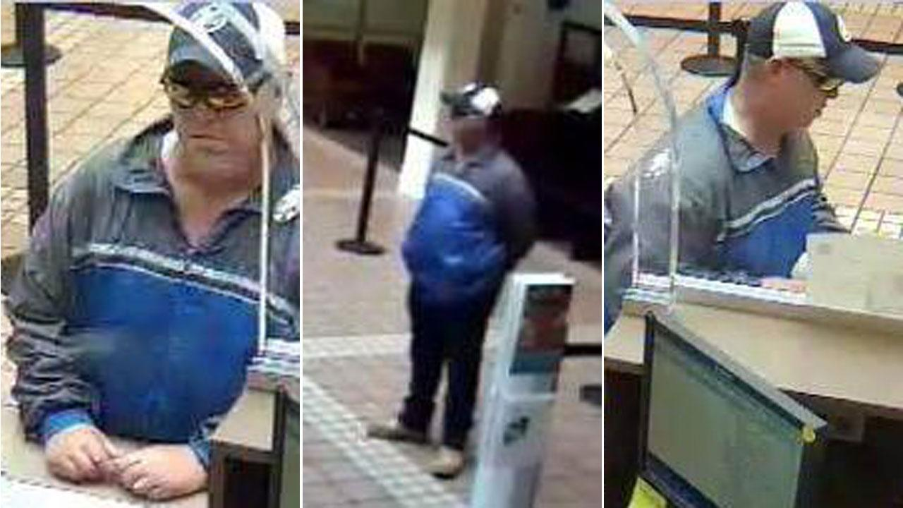 The FBIs Bank Robbery Task Force released these surveillance photos of a man who robbed a Wells Fargo Bank in the 10200 block of Almeda Genoa Road on Monday. If you have information on this crime, call Crime Stoppers at 713-222-TIPS or the Houston office of the FBI at 713-693-5000.