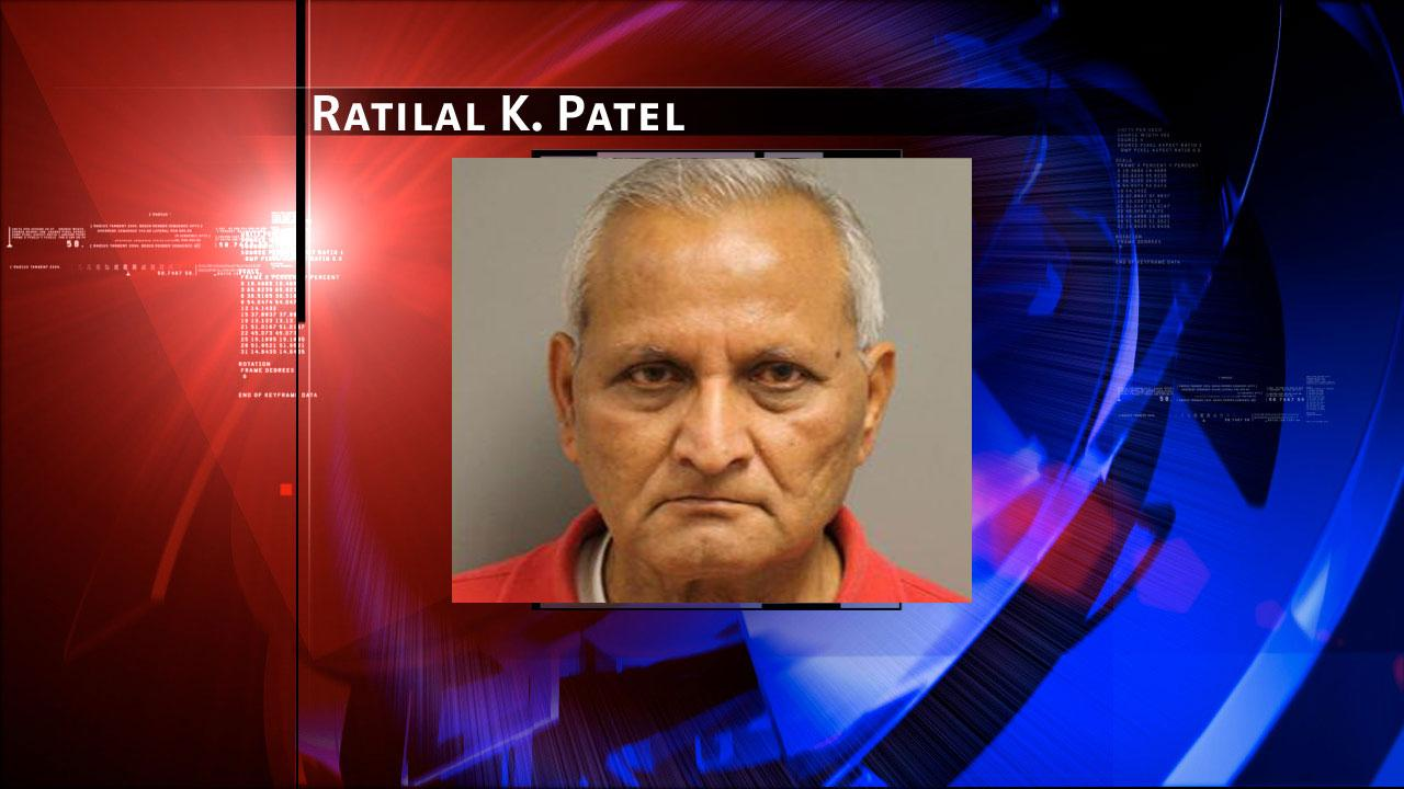 Ratilal K. Patel, 73, is charged with prostitution. Harris County Sheriffs Office Vice Unit investigators made a dozen arrests on Tuesday, May 7, 2013, during an undercover prostitution sting in north Harris County. <span class=meta>(HCSO)</span>