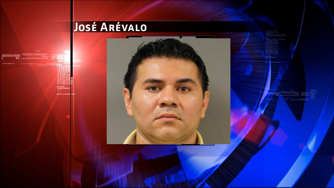 Jose Arevalo, 40, is charged with prostitution. Harris County Sheriffs Office Vice Unit investigators made a dozen arrests on Tuesday, May 7, 2013, during an undercover prostitution sting in north Harris County. <span class=meta>(HCSO)</span>
