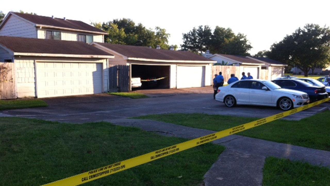 Police have a large area of this west Houston neighborhood blocked off after a shooting