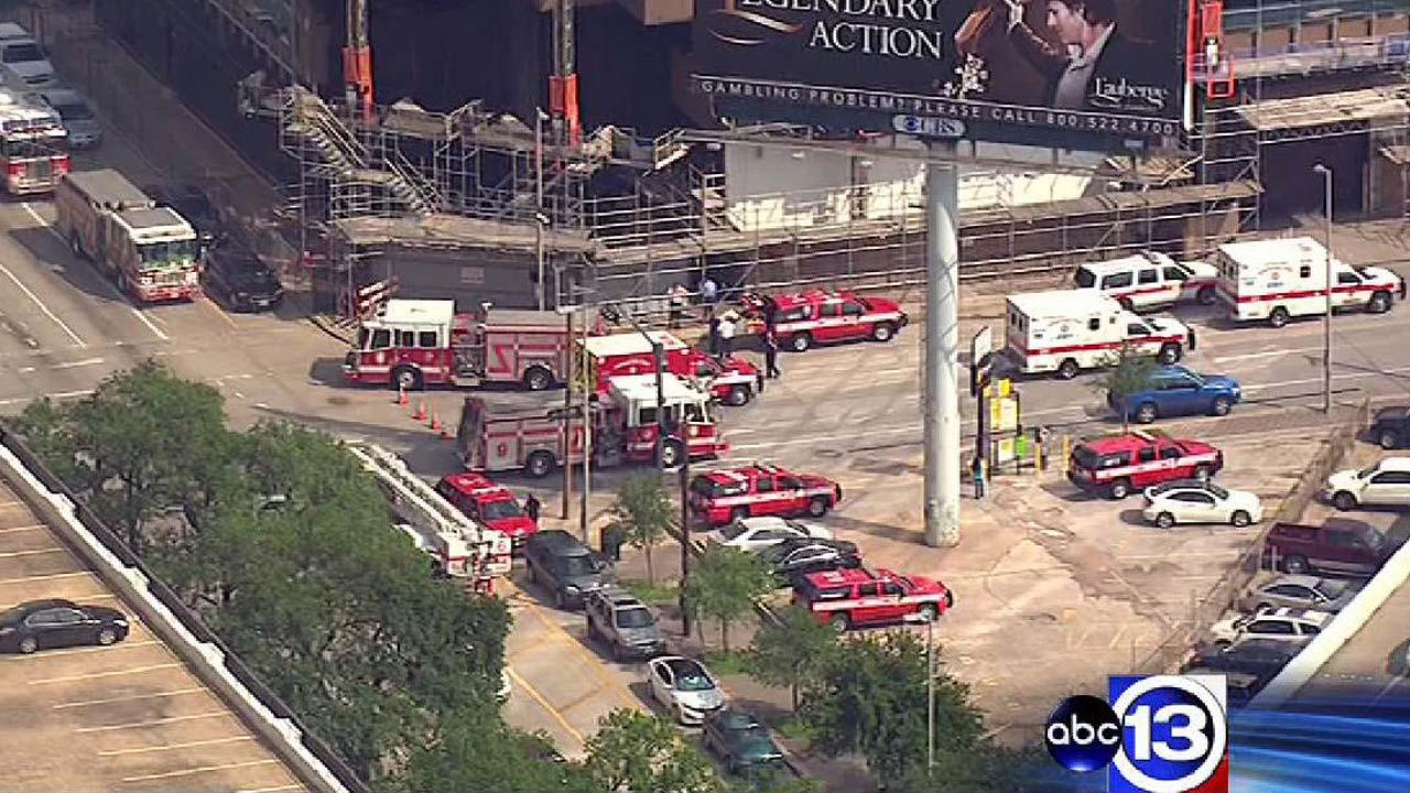 The entire 8th floor of the Mickey Leland Federal building in downtown Houston was evacuated Monday afternoon.