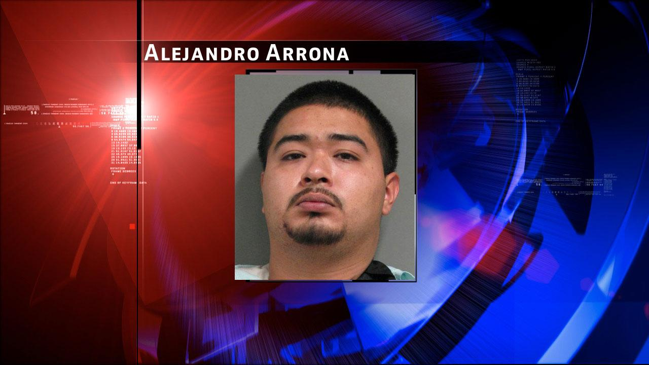 Alejandro Arrona is charged with charged with aggravated robbery, attempted burglary of a habitation and unlawful possession of a firearm