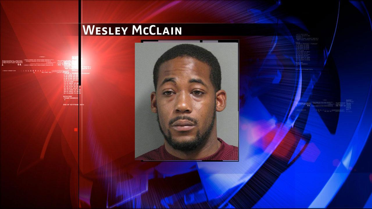 Wesley McClain, 27, was charged with aggravated assault with a deadly weapon
