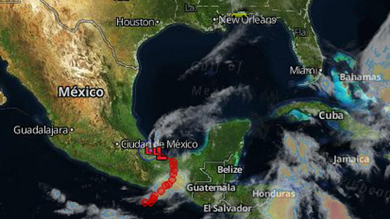 The remnants of Tropical Depression Barbara have moved into the Gulf of Mexico