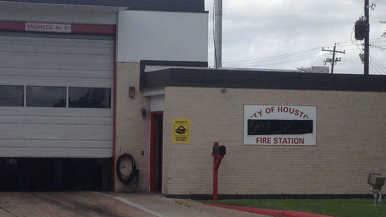 A black banner has been placed over the sign at HFD Station #51