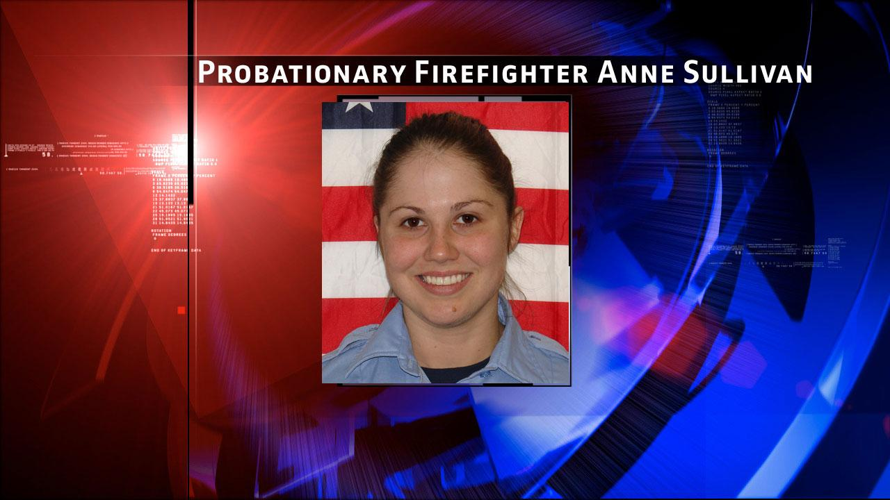 Probationary Firefighter Anne Sullivan (24) of Station 68. She graduated from Houston Fire Department Academy this past April and was assigned to Fire Station 68. The Houston Fire Department says she gave the ultimate sacrifice at a fire in southwest Houston on Friday, May 31, 2013.