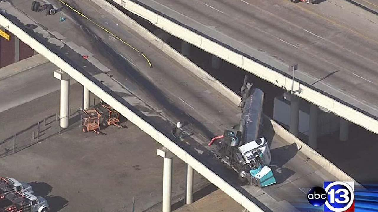West Loop reopens after tanker wreck prompts hours-long closure