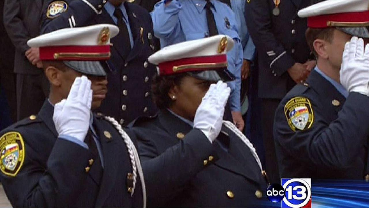 Thousands came together to honor the four firefighters killed in a massive hotel fire
