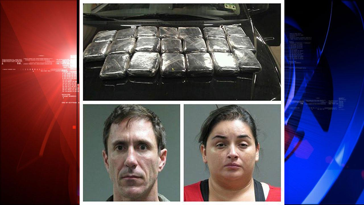 Christopher Clark, 44, of Houston, and Alejandra Oropeza, 36, of Katy, were both arrested for manufacture and delivery of a controlled substance.
