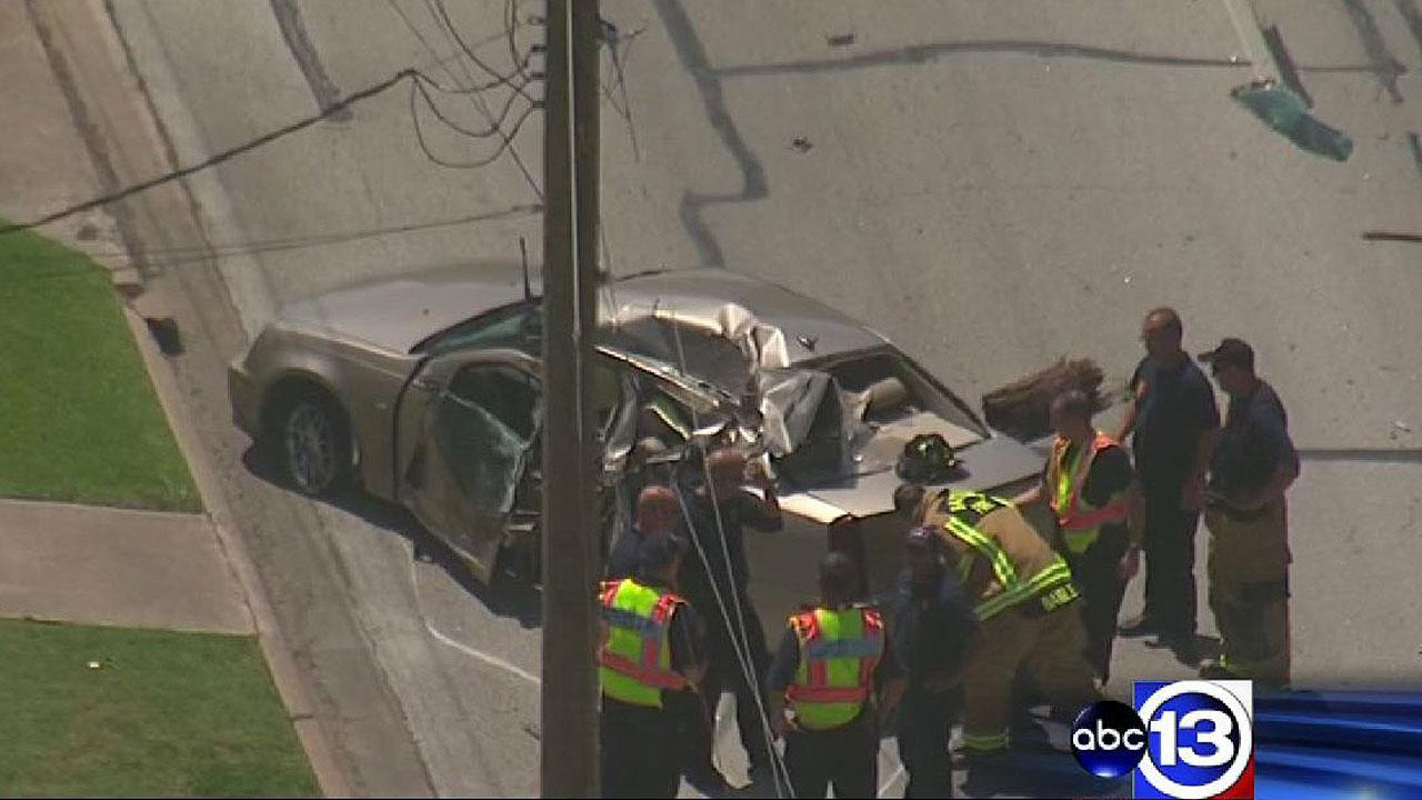 One person was injured in an accident on West Sterling in Baytown on Monday afternoon