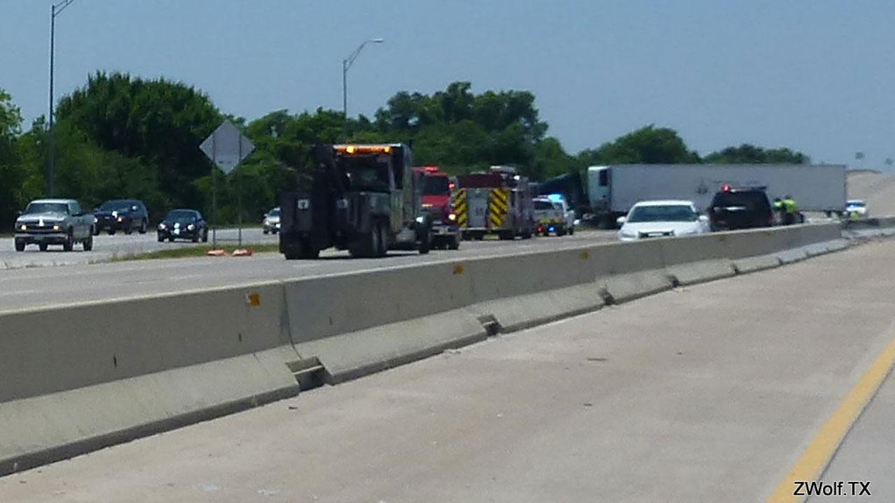This 18-wheeler accident had a portion of Highway 290 blocked Saturday afternoon. This photo was submitted by an ABC13 viewer through our iWitness Reports. If you see news happening and can safely snap a photo or video, send it to news@abc13.com. <span class=meta>(ZWolf.TX&#47;iWitness Reports)</span>