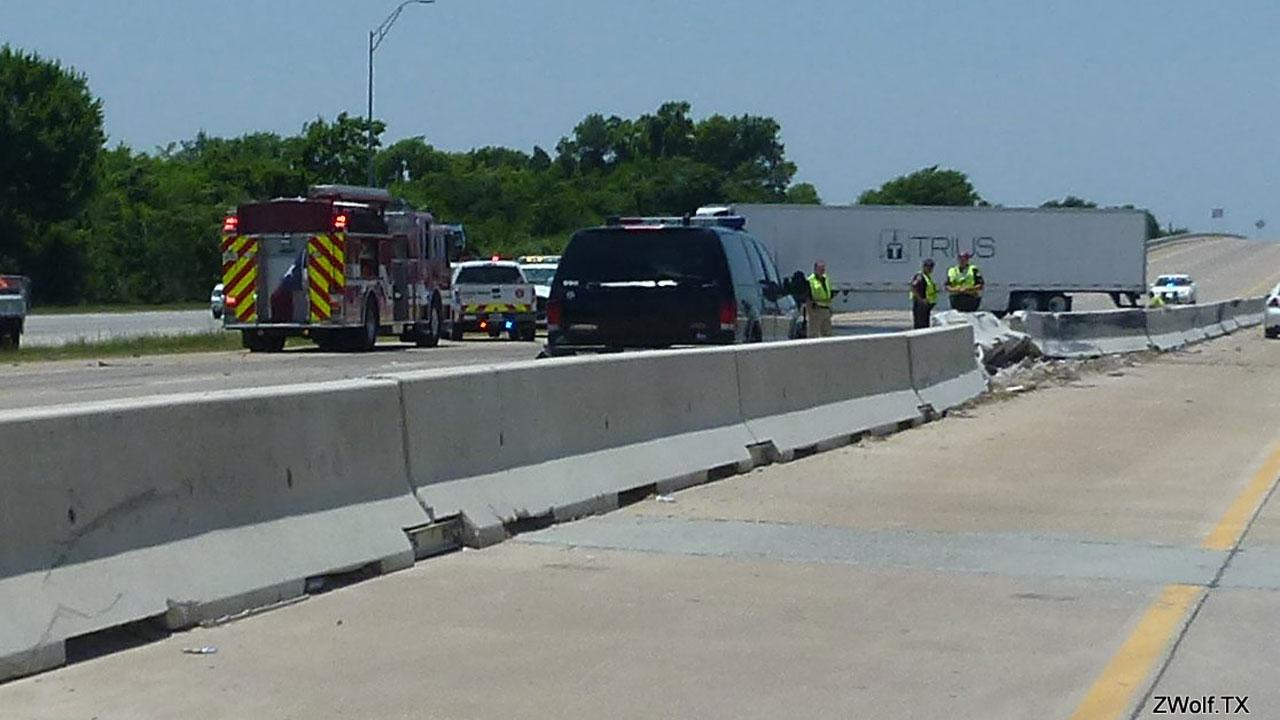 This 18-wheeler accident had a portion of Highway 290 blocked Saturday afternoon. This photo was submitted by an ABC13 viewer through our iWitness Reports. If you see news happening and can safely snap a photo or video, send it to news@abc13.com.ZWolf.TX/iWitness Reports