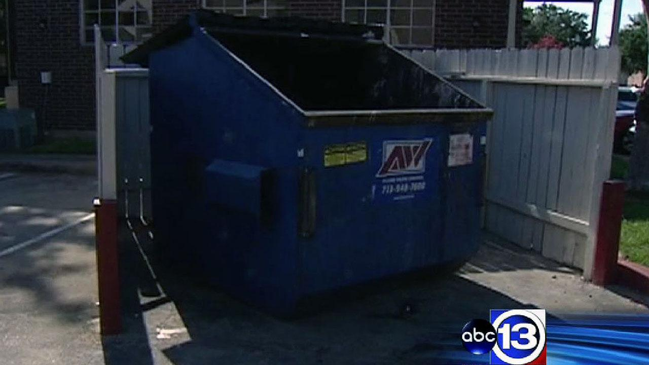 Newborn found behind dumpster in southeast Houston now breathing on his own