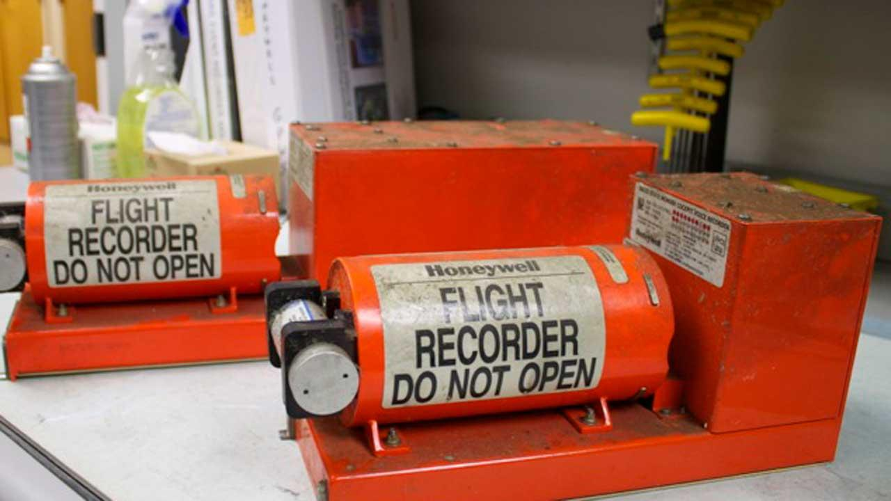 These are the  data and voice recorders from the Asiana Airline flight that crash landed in San Francisco Saturday.  The large recorder is the flight data recorder and the smaller in the cockpit voice recorder.  Both appear to be in good condition and are with the NTSB. (Credit NTSB)