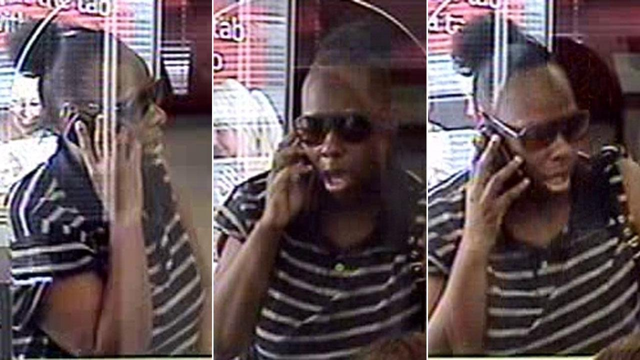 Female bank robber