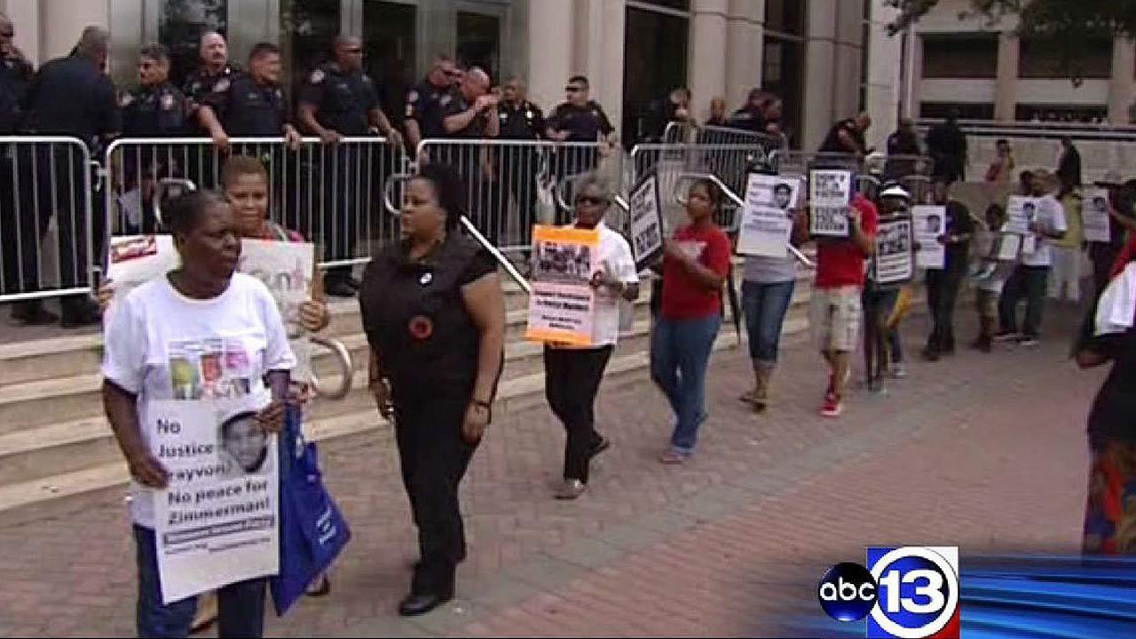 Protesters for justice for Trayvon Martin
