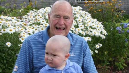 President Bush shaves head