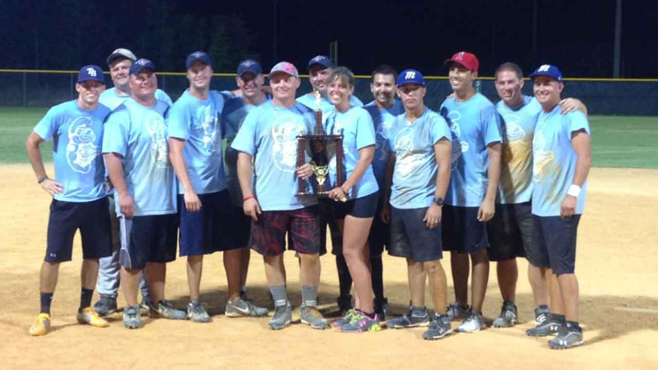The winning team at the Batting for our Brothers softball tournament in Montgomery County