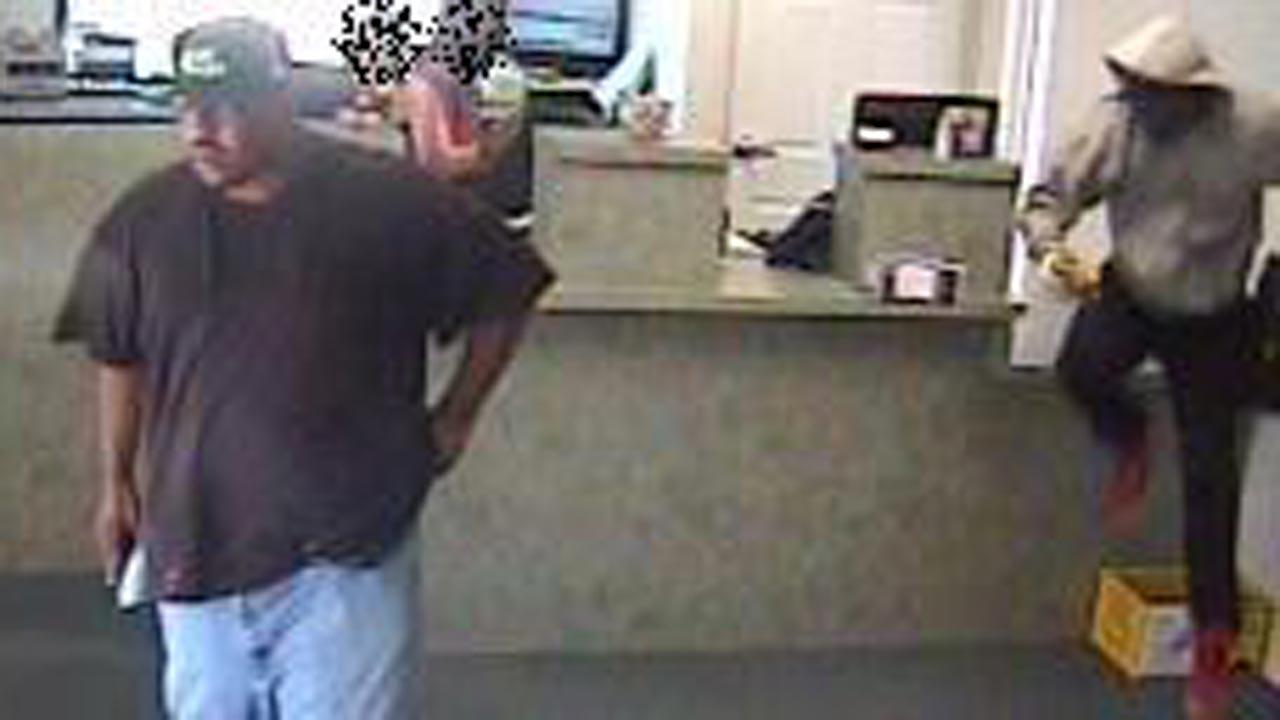 Bank robbery surveillance photos