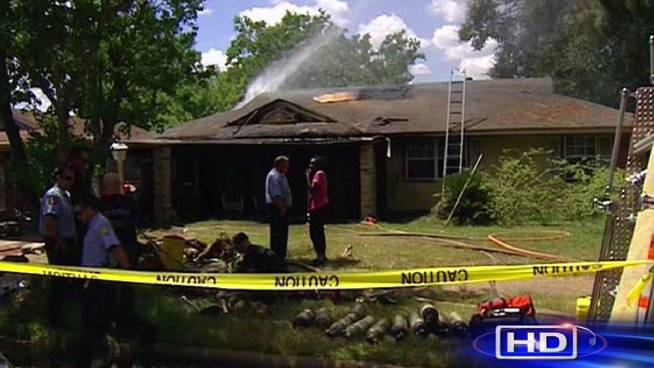 Boy pulled from burning home
