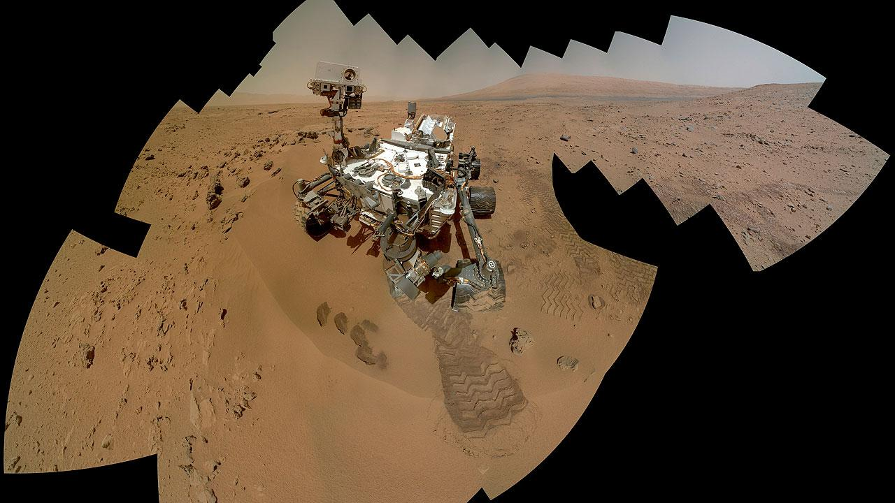 Self-portrait of the Mars rover Curiosity