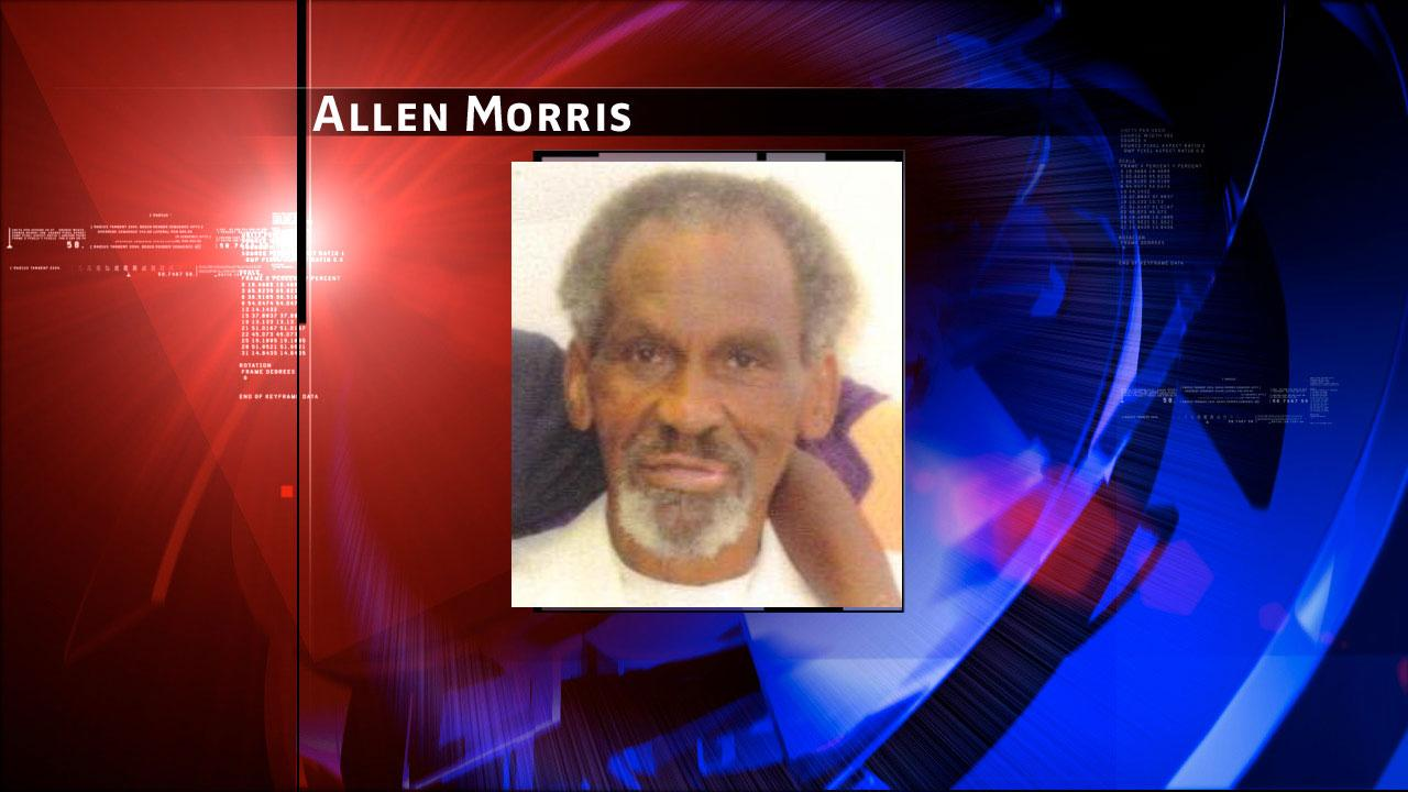 Allen Pop Morris, 80, was last seen around 5pm Friday in the 8300 block of Dover Street