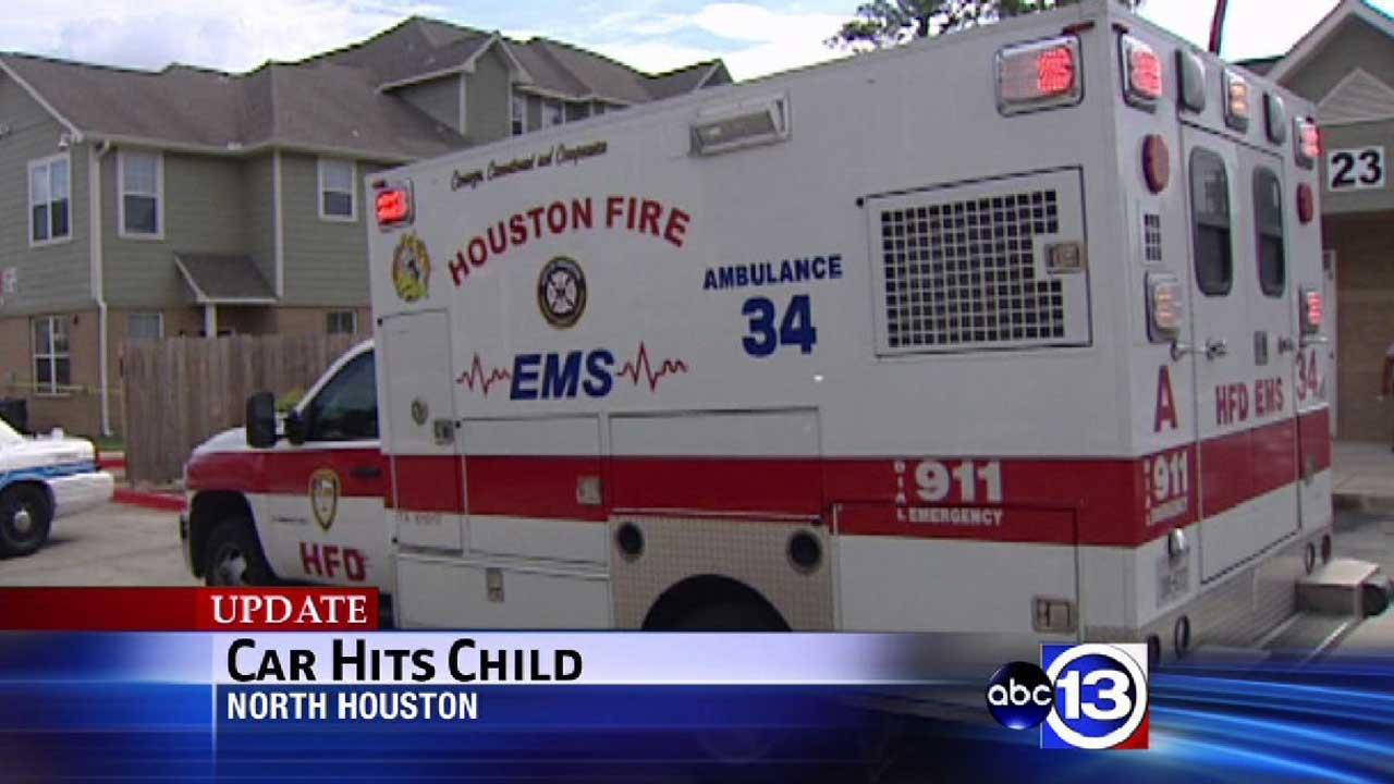 Car hits child in north Houston
