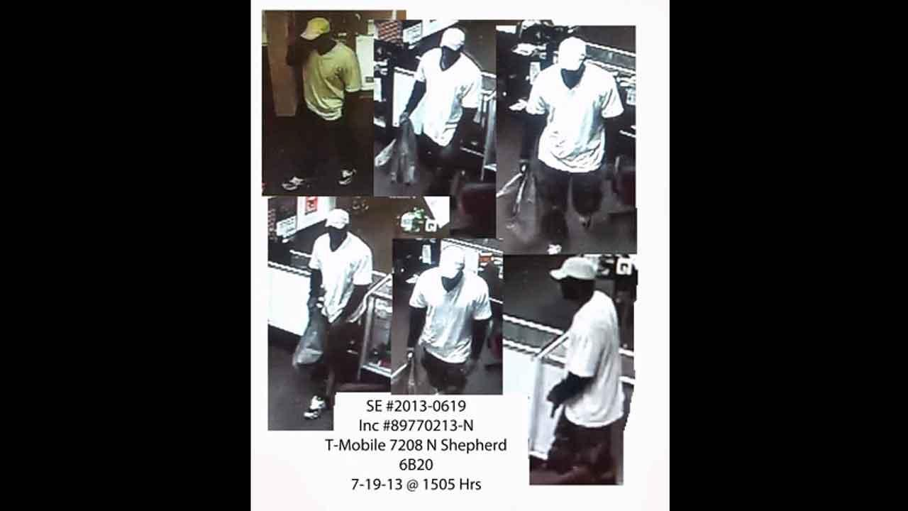 Surveillance images provided by Crime Stoppers of Houston