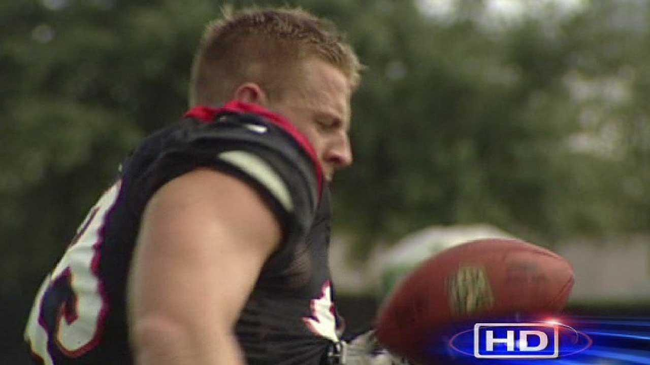 JJ Watt impresses...catching passes