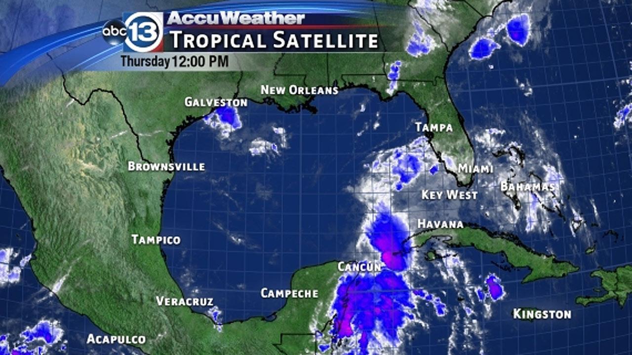 Tropical disturbance in the western Caribbean Sea