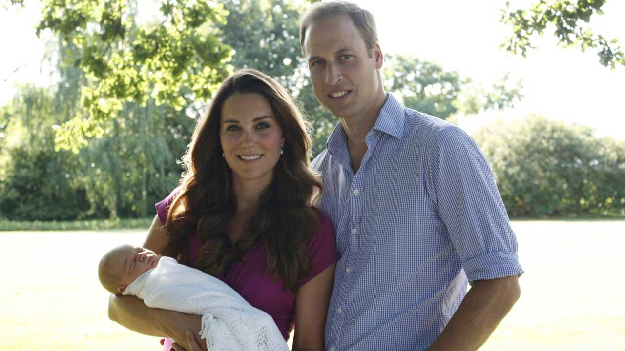 Prince George with parents Prince William and Kate Middleton