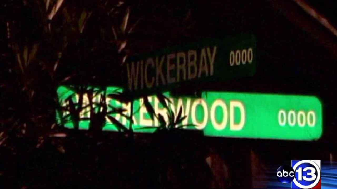 A man who lives on Wickerbay near Wickerwood in northwest Houston returned home with his throat slashed