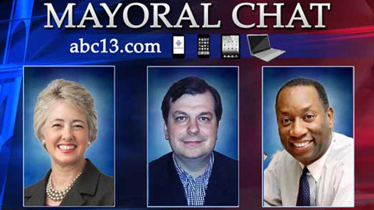 Houston Mayor Annise Parker and challengers Ben Hall and Eric Dick answered your questions in a live chat.