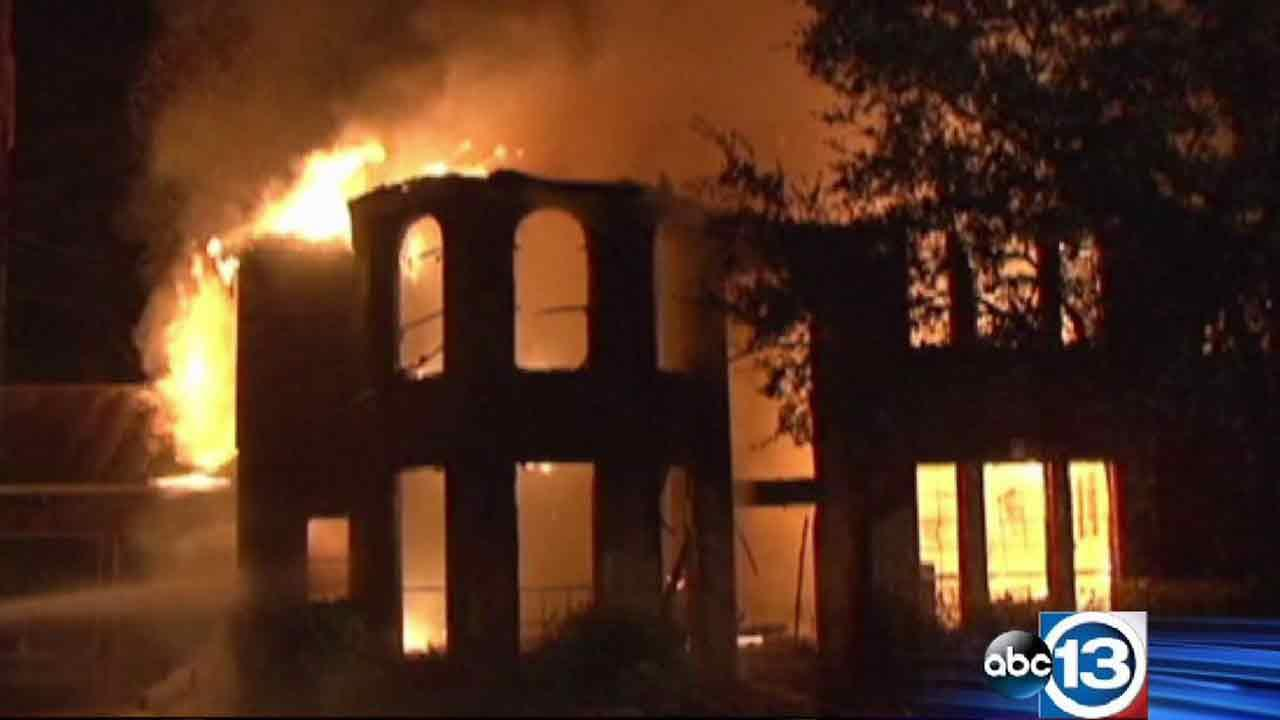 This two-story home, which was for sale, went up in flames, prompting Klein firefighters to evacuate neighbors