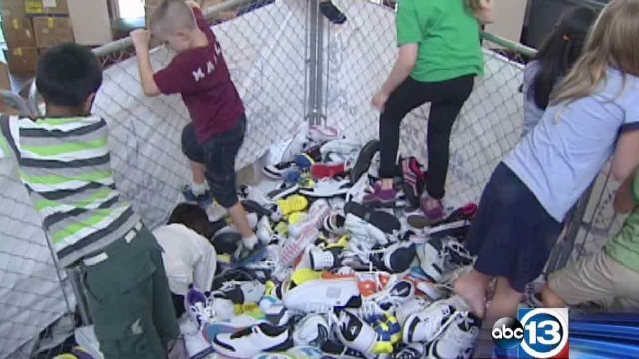 Houston church collects 10,000 shoes for orphans around the world as part of Shoes for Orphan Souls program