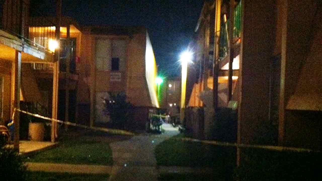Houston police at the scene of an officer-involved shooting in southwest Houston